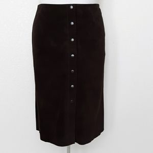 Banana Republic leather snap front skirt size 14